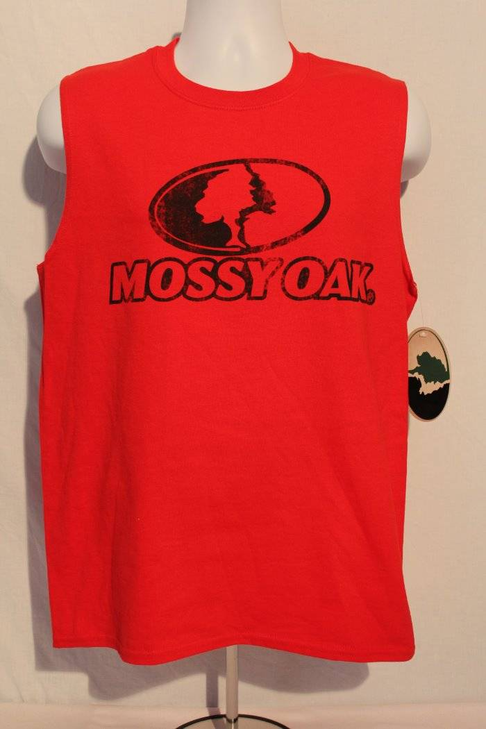 07f429e50b867e Details about NEW Mens Tank Top Mossy Oak Muscle T Shirt Medium Deer  Hunting Camo Graphic Tee