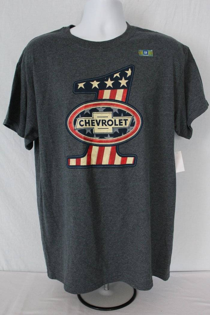 e95f0990 Details about NEW Mens Graphic T-Shirt Size XL Chevrolet Car Gray Top Flag  GM Chevy Camaro