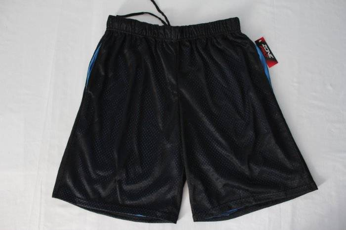 NEW Mens Athletic Shorts Medium Blue Wicking Basketball Workout Pockets Silky