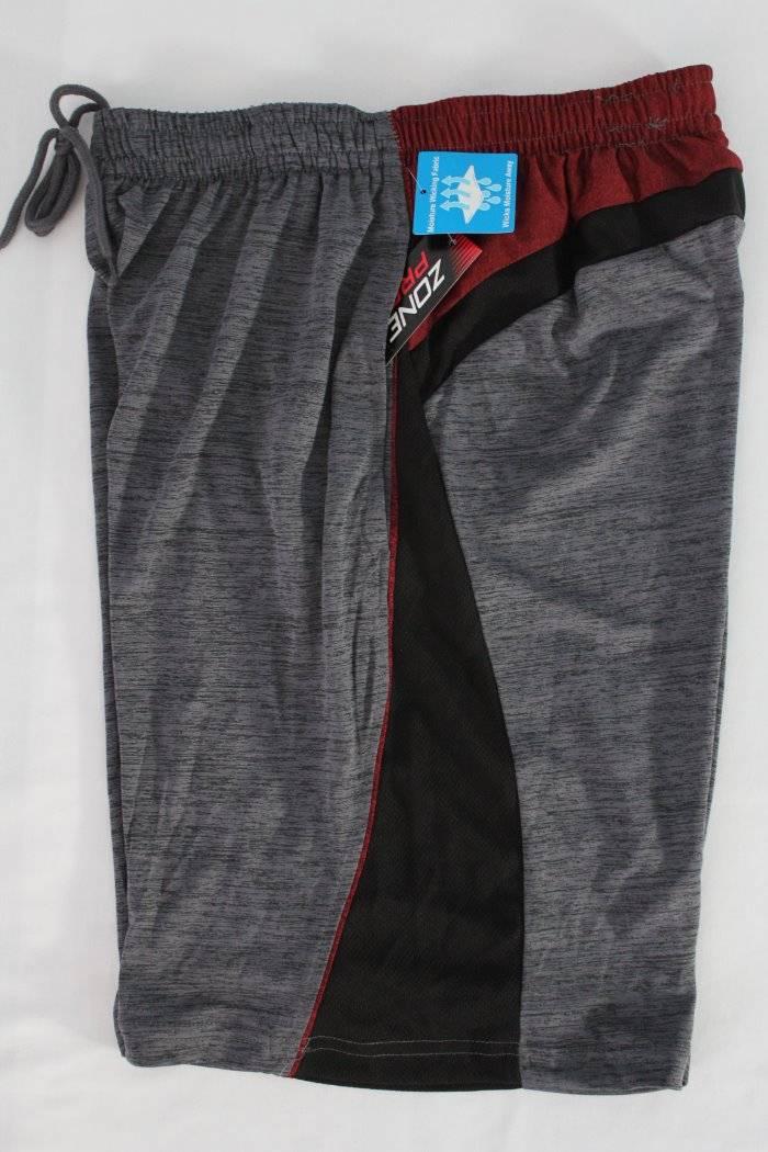 NEW Mens Athletic Shorts XL Black Red Basketball Workout Run Pockets Micro Mesh