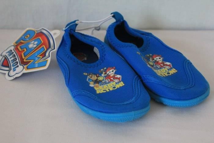 Boys Blue Paw Patrol Aquasocks Beach Sandals Clogs Shoes Mules Kids Size 5-10
