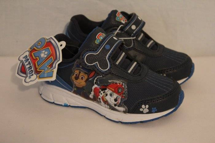 NEW Paw Patrol Toddler Boys Tennis Shoes Size 7 Sneakers Police Fireman Dog  Cop TV 6409373e9d81