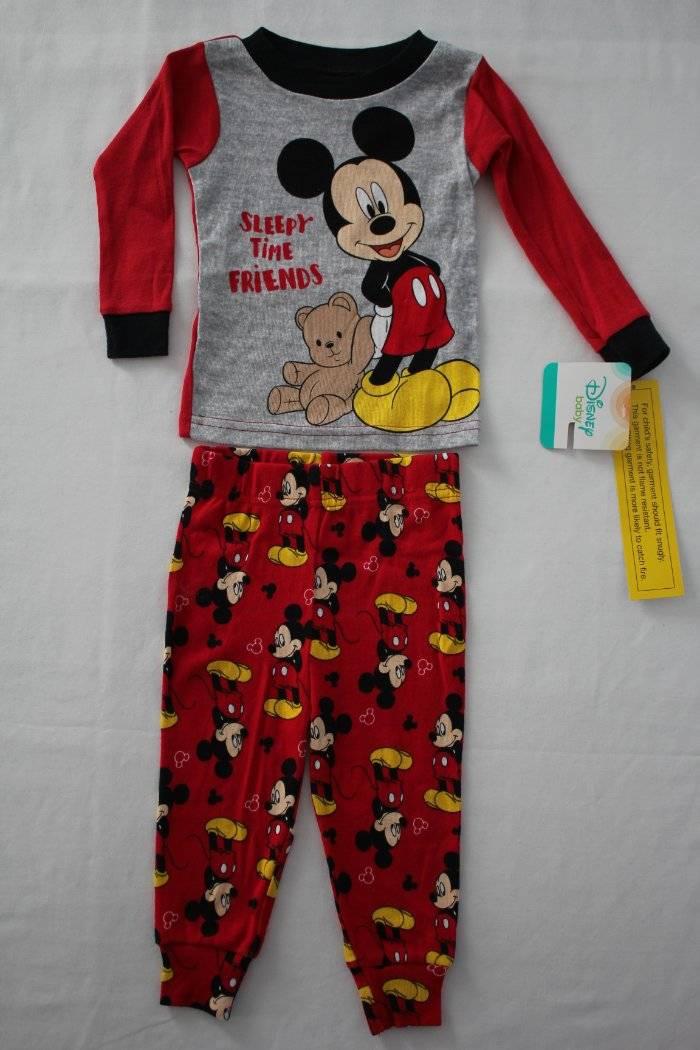 55daf6902 NEW Boys 2 piece Pajamas Set 12 Months Shirt Top Pants Mickey Mouse ...