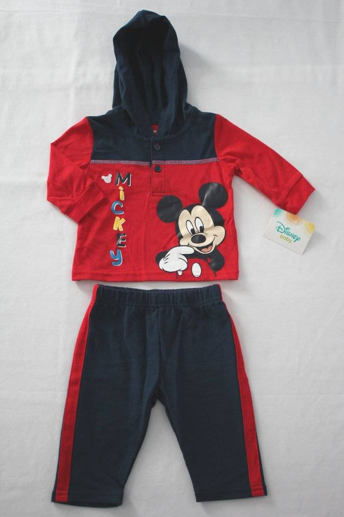 Details about NEW Boys 2 pc Outfit Size 0 - 3 Month Hooded Shirt Pants Set  Mickey Mouse Disney 4ca5757be