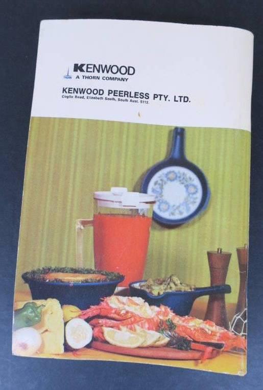 Vintage kenwood chef mixer model a701a instruction recipe book vintage kenwood chef mixer model a701a instruction recipe book edition no 4 forumfinder Images