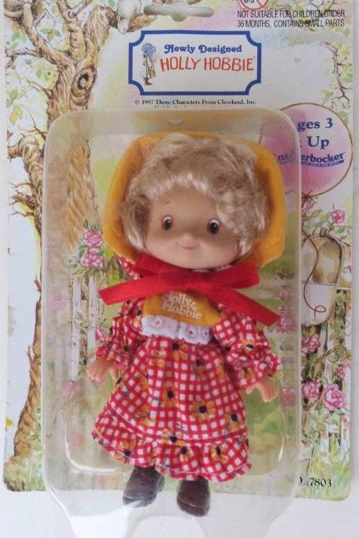 Vintage Holly Hobbie Knickerbocker Toys Small Doll 13cm