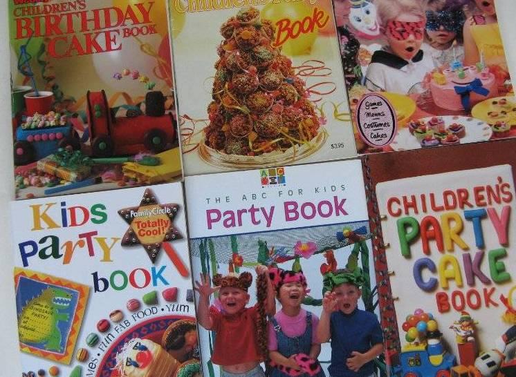 Childrens Kids Party Books X 6 Inc Aww Childrens Birthday Cake