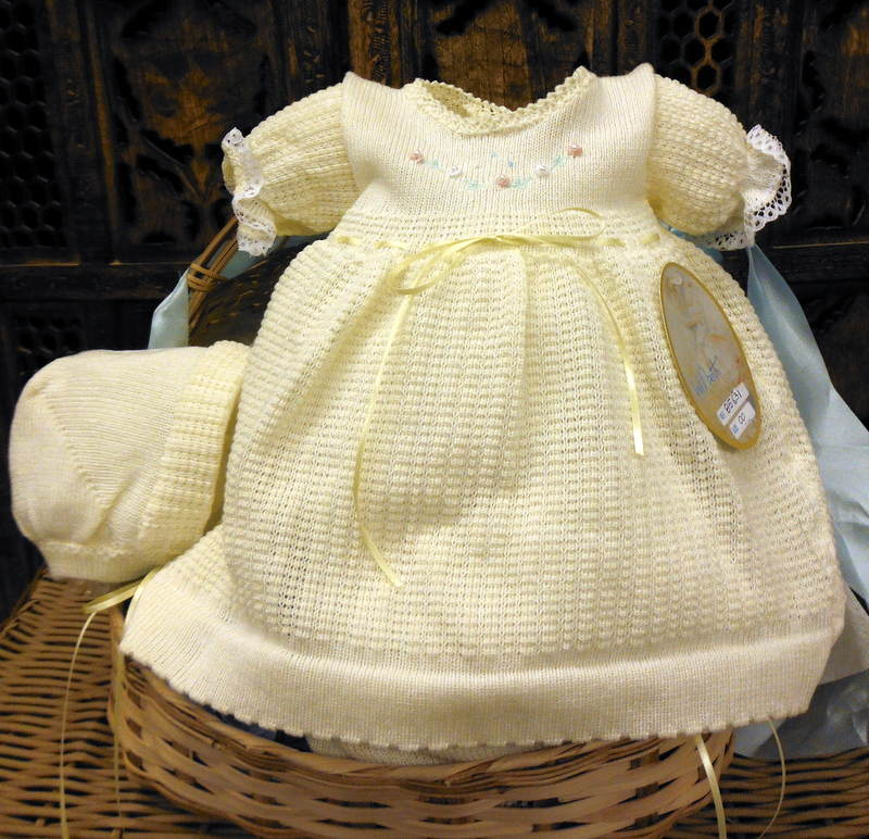 6ca1b5a37 Will beth Baby Girl Yellow Knit Dress Bonnet Set Take-Me-Home NWT