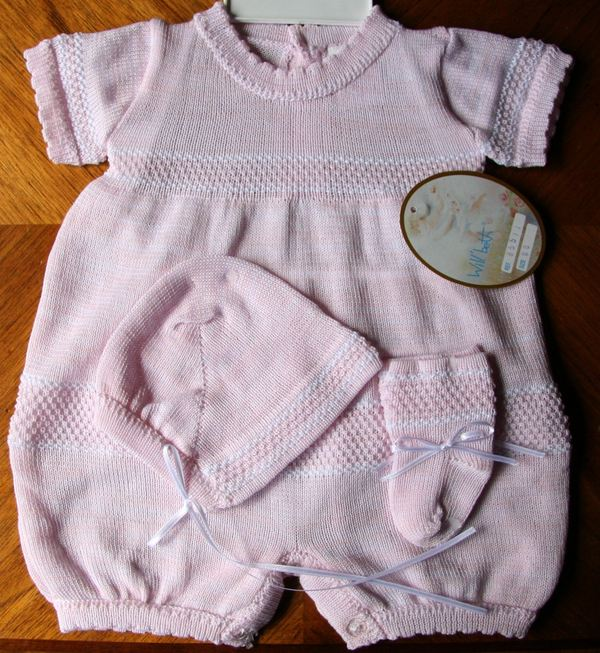 Will/'beth Newborn Reborn Baby Girl White /& Pink Knit Baby Bonnet NWT Dolls