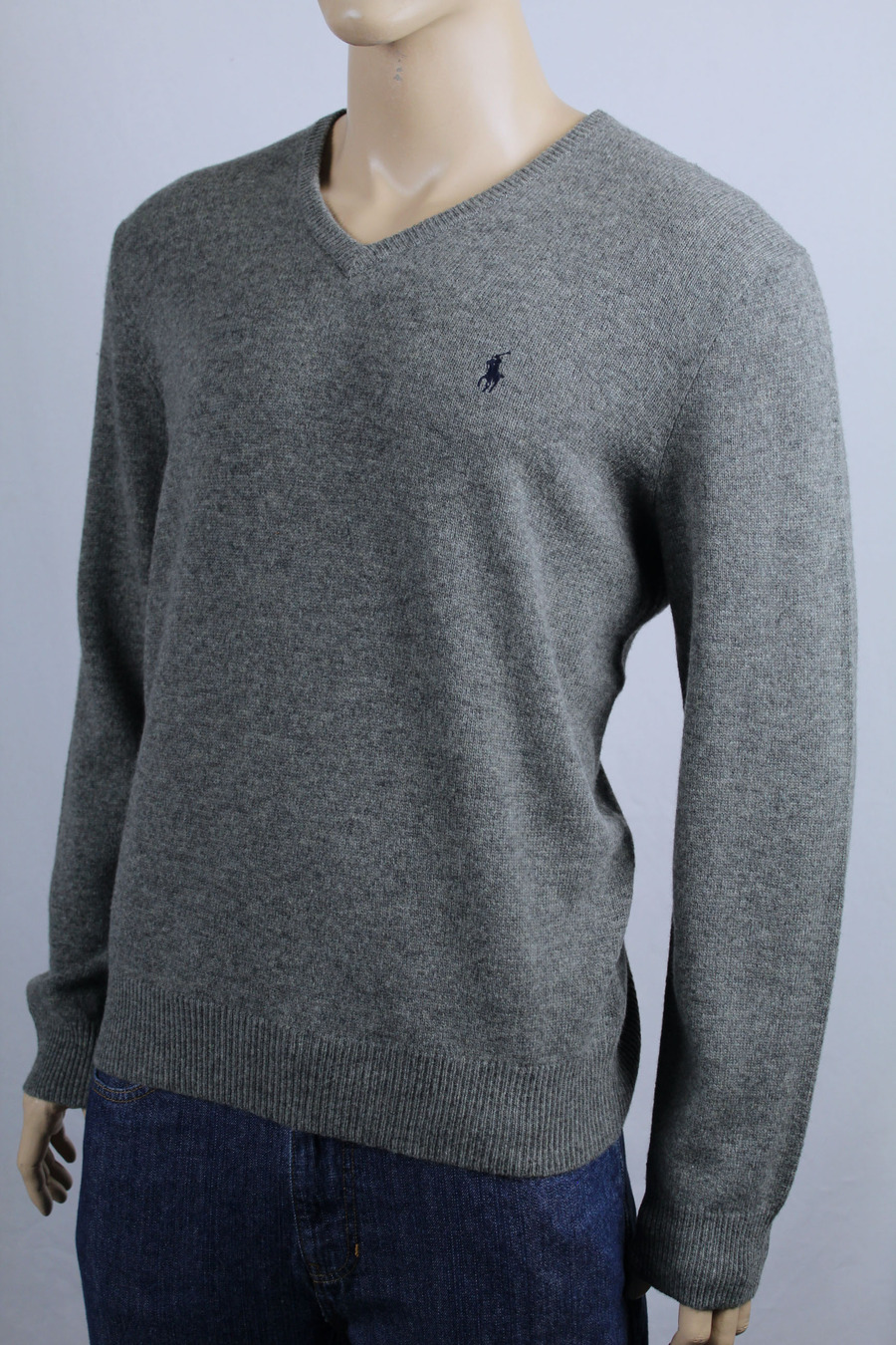 Polo Ralph Lauren Navy Blue Crewneck Sweater Green Pony NWT