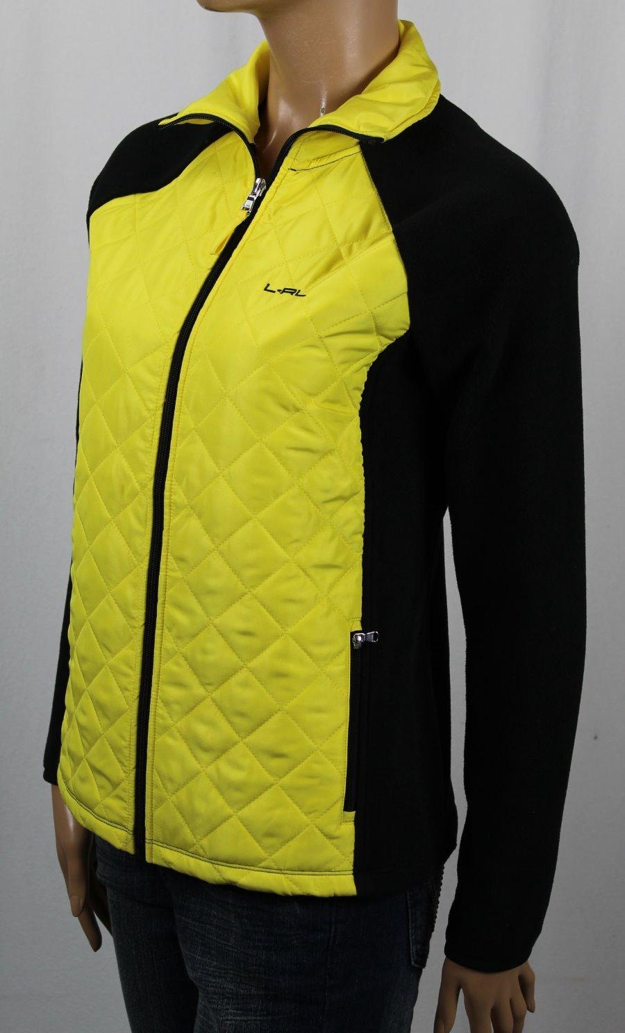 Ralph Lauren L-RL Active WOMENS Coat Jacket ORANGE//NAVY BLUE YELLOW//BLACK NEW