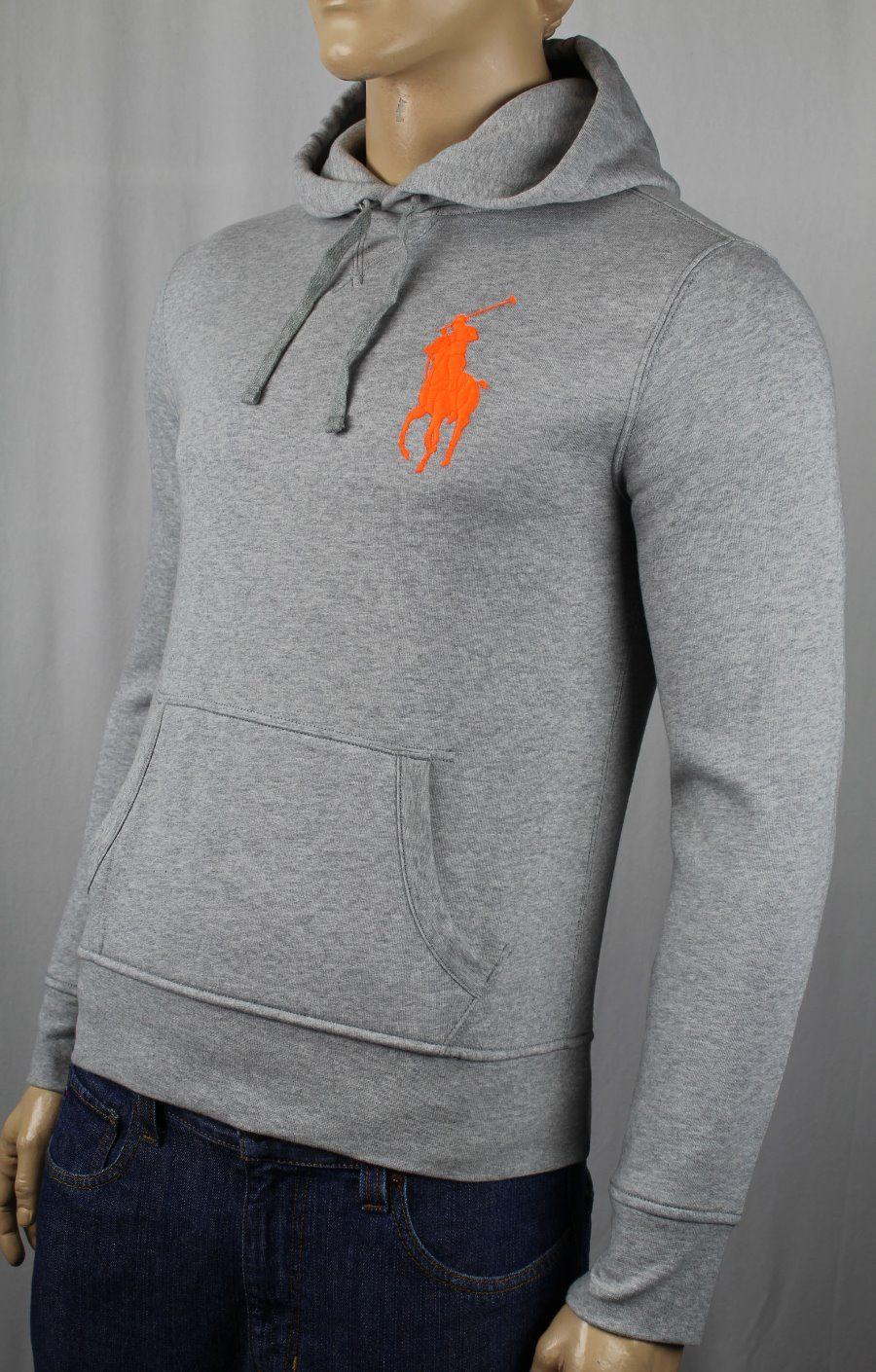 Ralph Lauren Polo USA Grey Big Pony Hooyd Sweatshirt