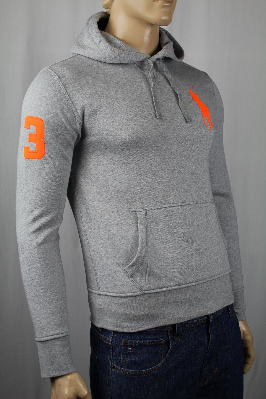 Ralph Lauren Men Orange Soft Hoodied