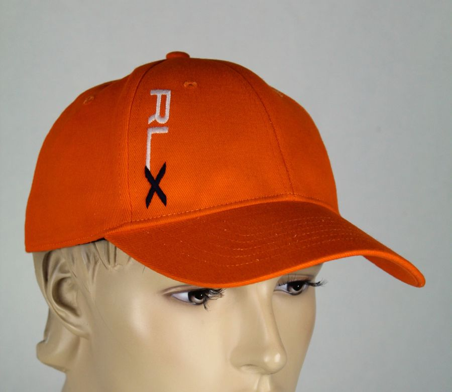 cd361c8671251 Ralph Lauren RLX Sport Orange Baseball Ball Cap Hat S M NWT