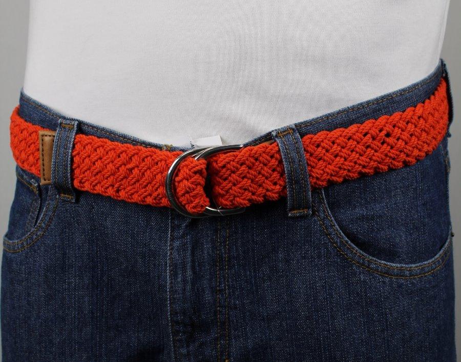 Polo Ralph Lauren Red Rope Belt Double D Brass Buckle NWT