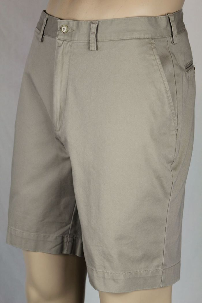 2754ba138 Details about Polo Ralph Lauren Beige Flat Front Prospect Cotton Chino  Shorts NWT