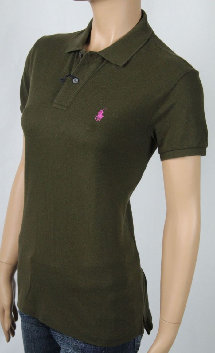 627fdaa03c Ralph Lauren Brown Skinny Fit POLO Pink Pony NWT | eBay