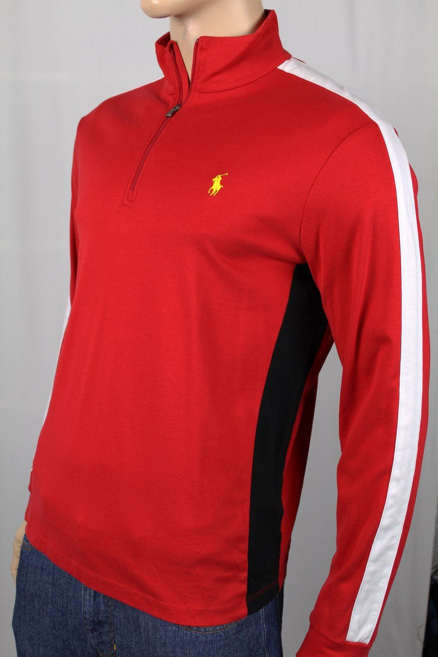 Polo Ralph Lauren RED 1//2 HALF ZIP SWEATSHIRT NWT S