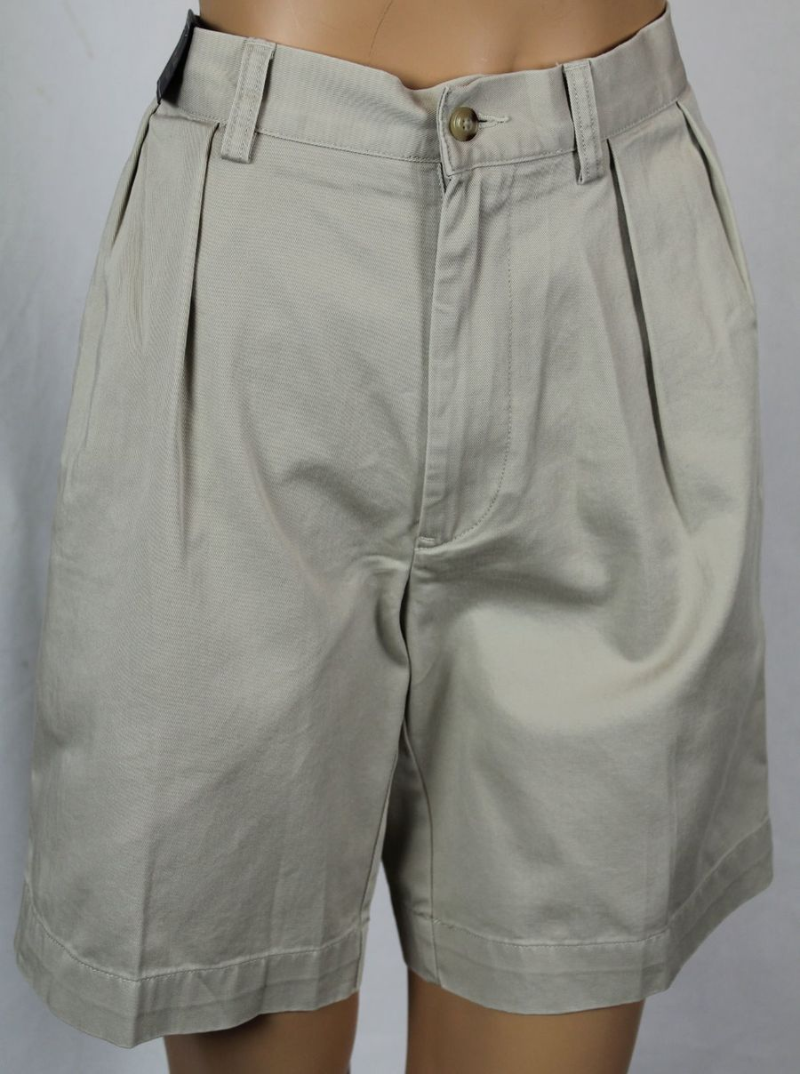 "Polo Ralph Lauren White Cotton Classic Fit 6/"" Chino Shorts NWT"