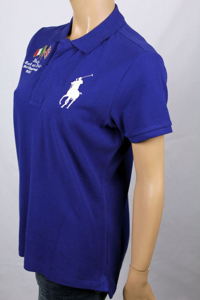 c0360426 Details about Ralph Lauren Blue Italy Track & Field Skinny POLO Big Pony NWT