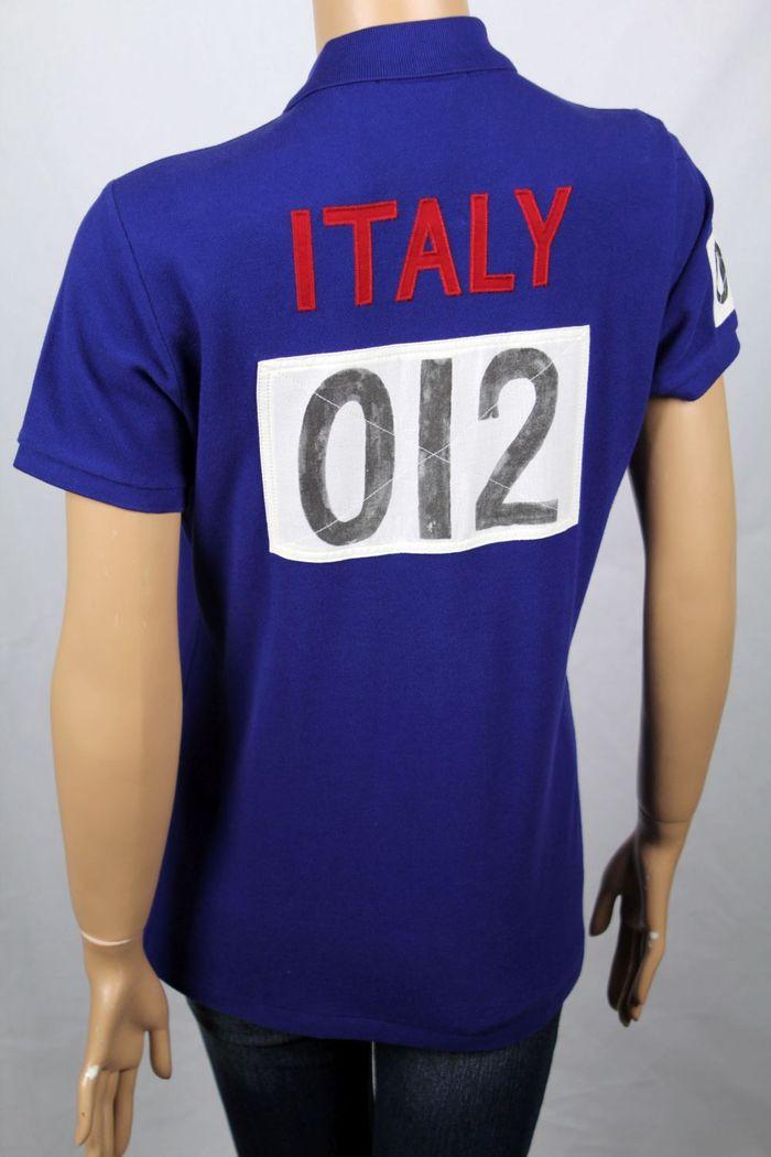 c3f8b0d0 Ralph Lauren Blue Italy Track & Field Skinny POLO Big Pony NWT | eBay