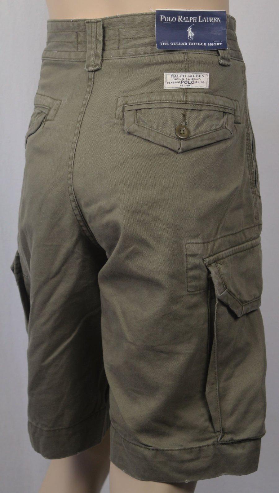 Polo Ralph Lauren Gellar Fatigue Cargo Military Army Classic Chino Shorts Big