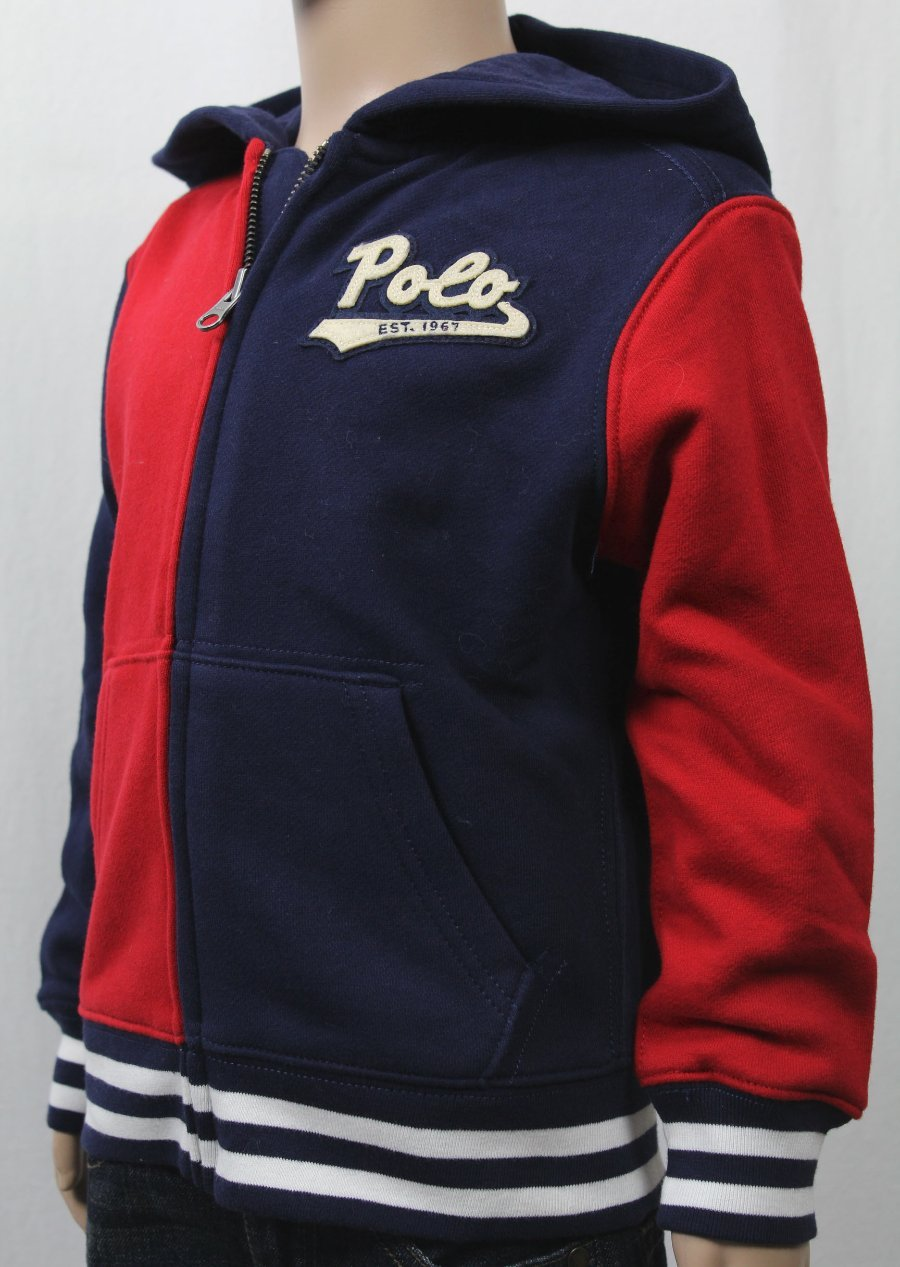 3d8dfee617 Children POLO Ralph Lauren Red Navy Blue Jacket Hoodie NWT | eBay