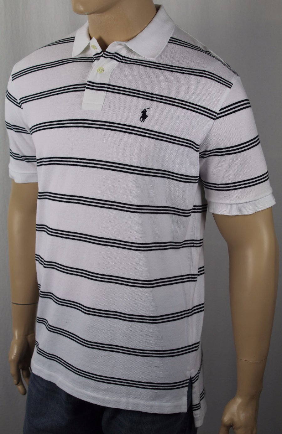 Polo Ralph Lauren Performance White Big Black Pony Shirt NWT