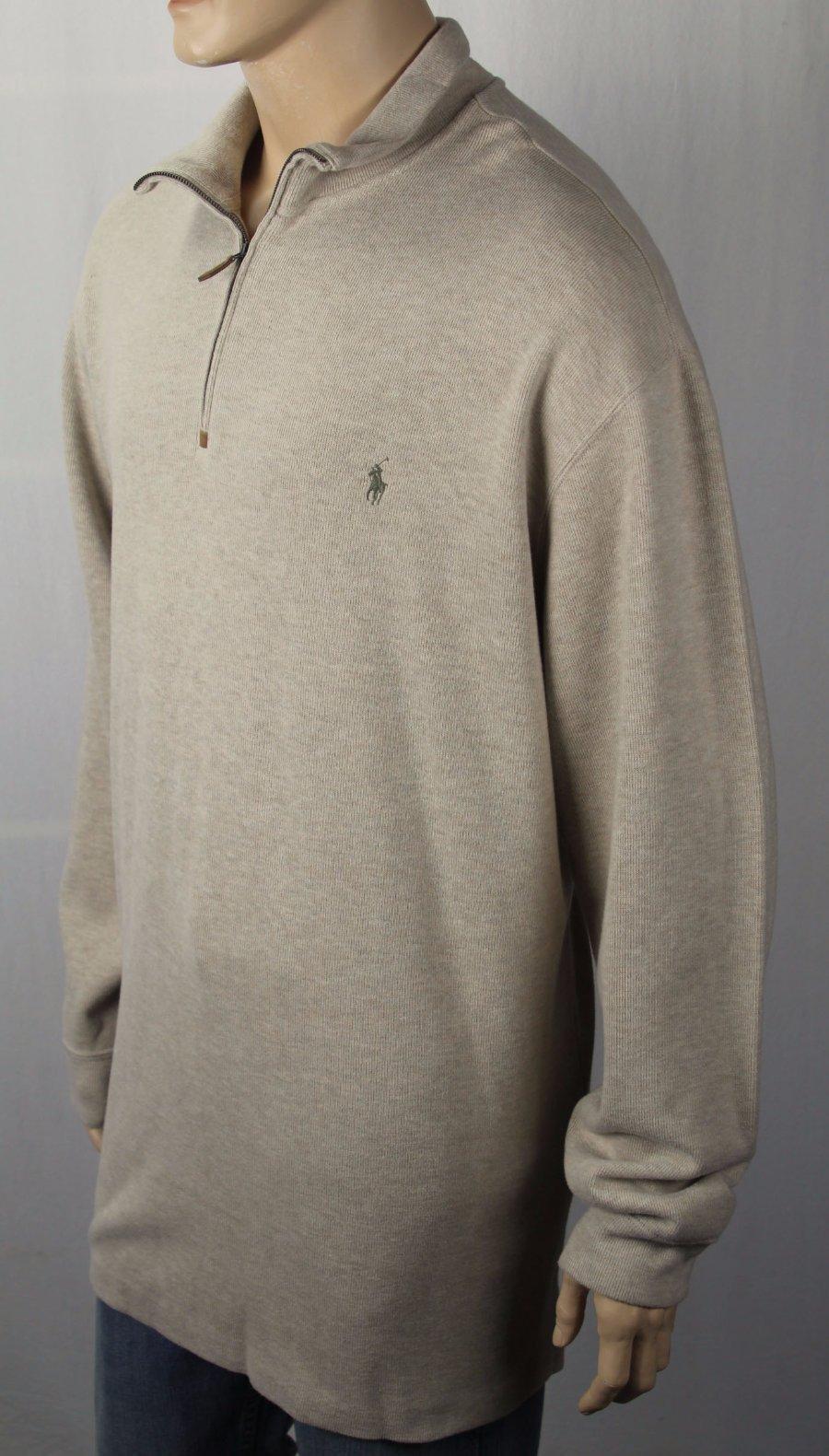 Polo Ralph Lauren Black 1//2 Half Zip Sweater Burgundy Pony NWT