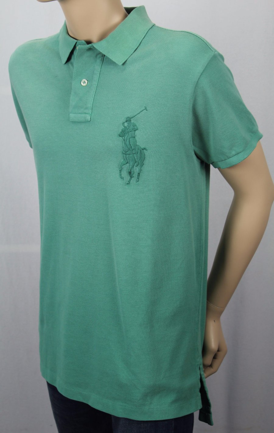 Polo Ralph Lauren Green Custom Fit Mesh Long Sleeve Shirt NWT