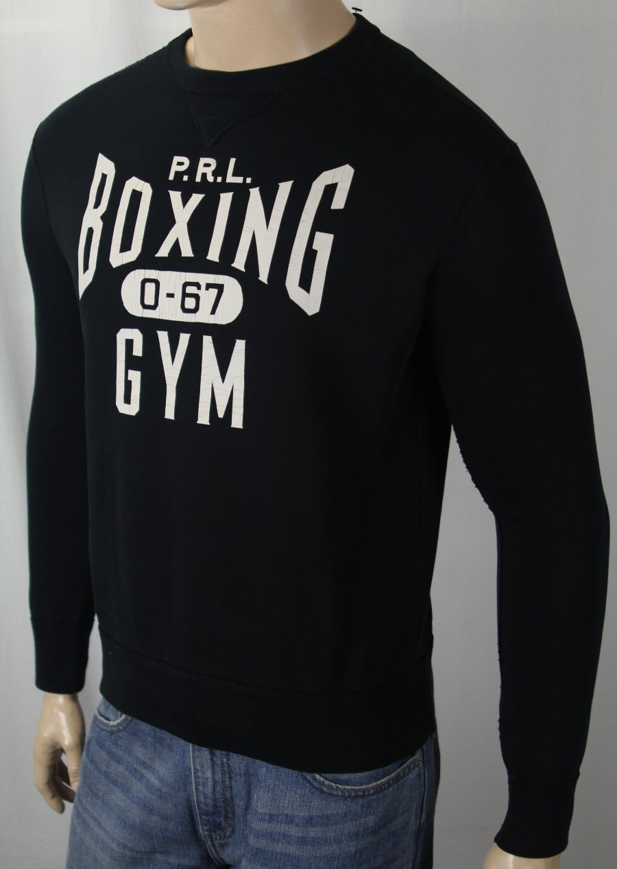 Details about Polo Ralph Lauren Black PRL Boxing Gym 067 Sweatshirt NWT 78cd8c84bbc1