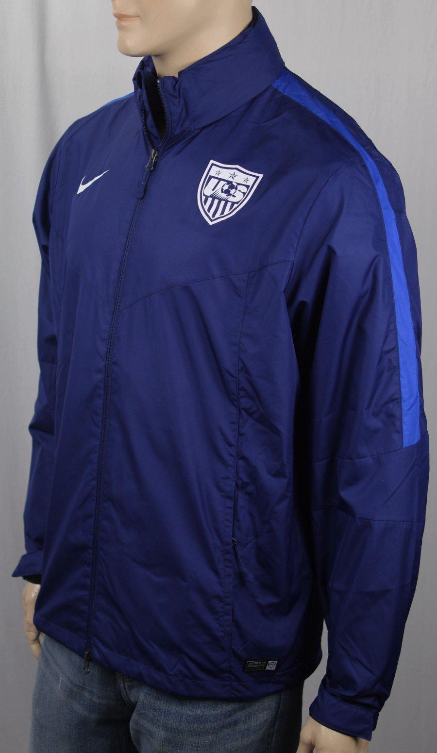 munición Ver insectos rápido  Nike Azul Chaqueta con Capucha Ee.uu. Nacional Soccer Team Storm Fit Nwt    eBay