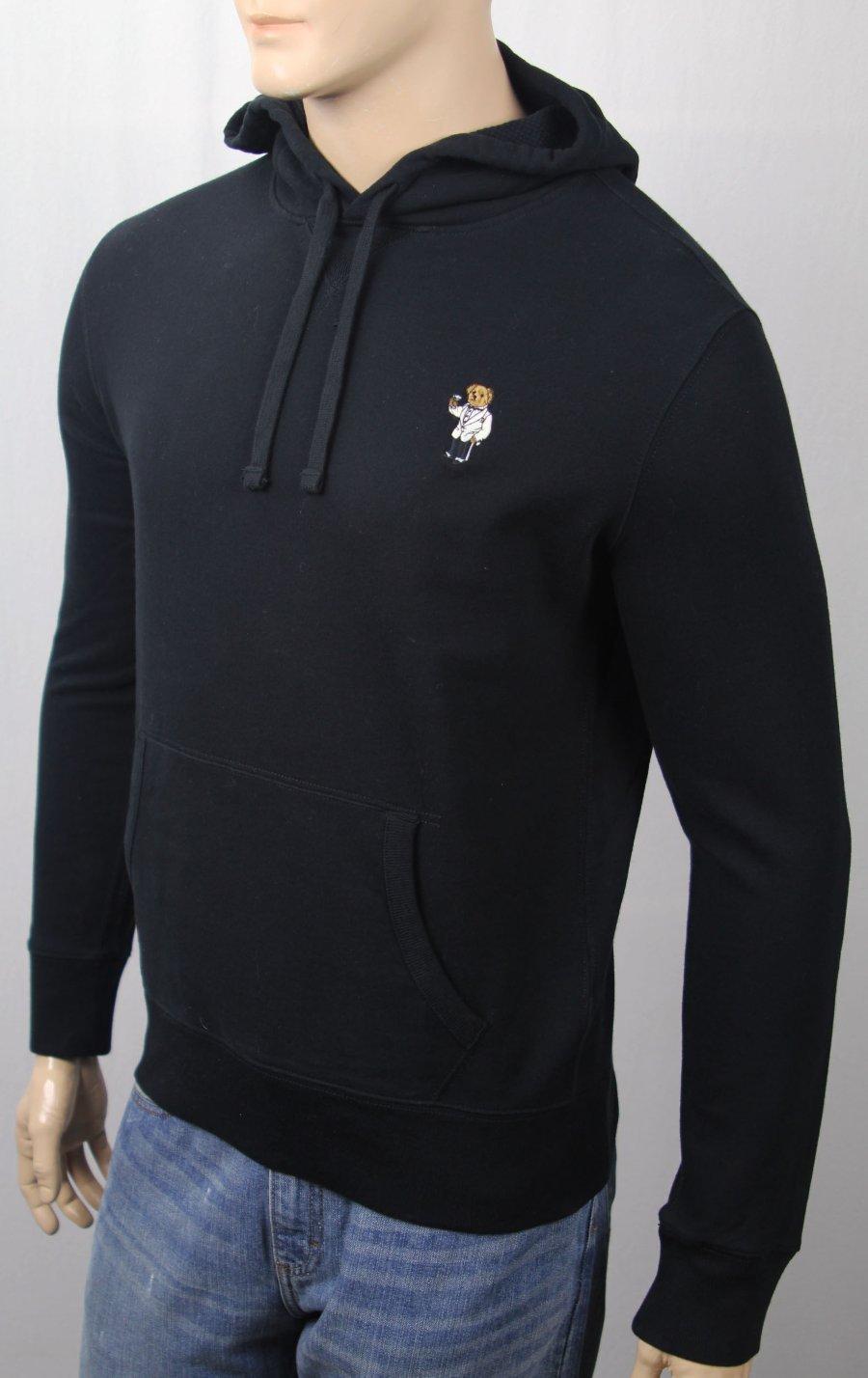 Details about Polo Ralph Lauren Black Tuxedo Martini Teddy Bear Hoodie Pullover Sweatshirt NWT