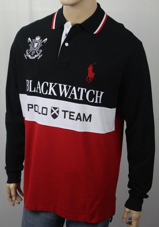 3cbb56b0 Details about POLO Ralph Lauren Blackwatch Classic Fit Big Pony Long Sleeve  Shirt NWT