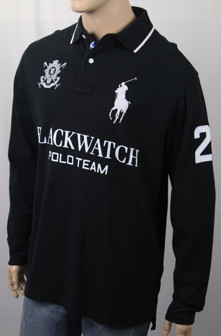 37f9b7e4 Details about POLO Ralph Lauren Blackwatch Classic Fit Big Pony Long Sleeve  Shirt NWT