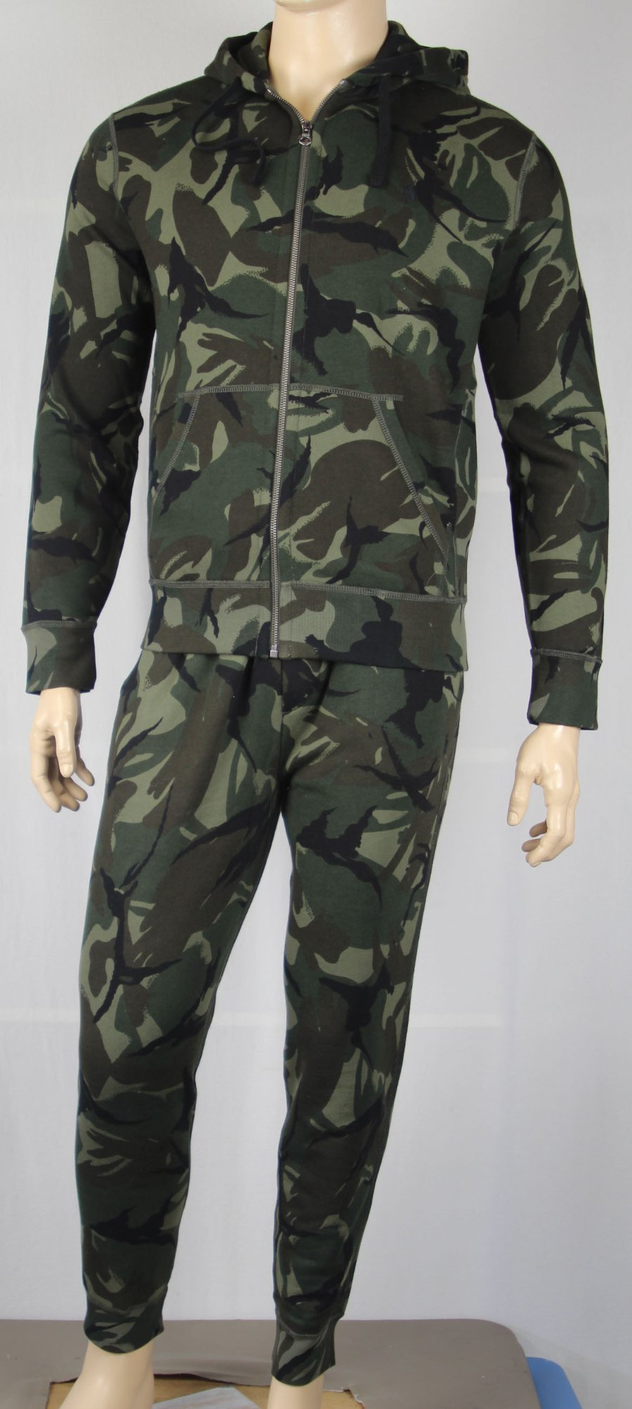 77fd4ae00c0 Details about Polo Ralph Lauren Green Camouflage Camo Hoodie Sweatshirt  Sweatpant Set NWT