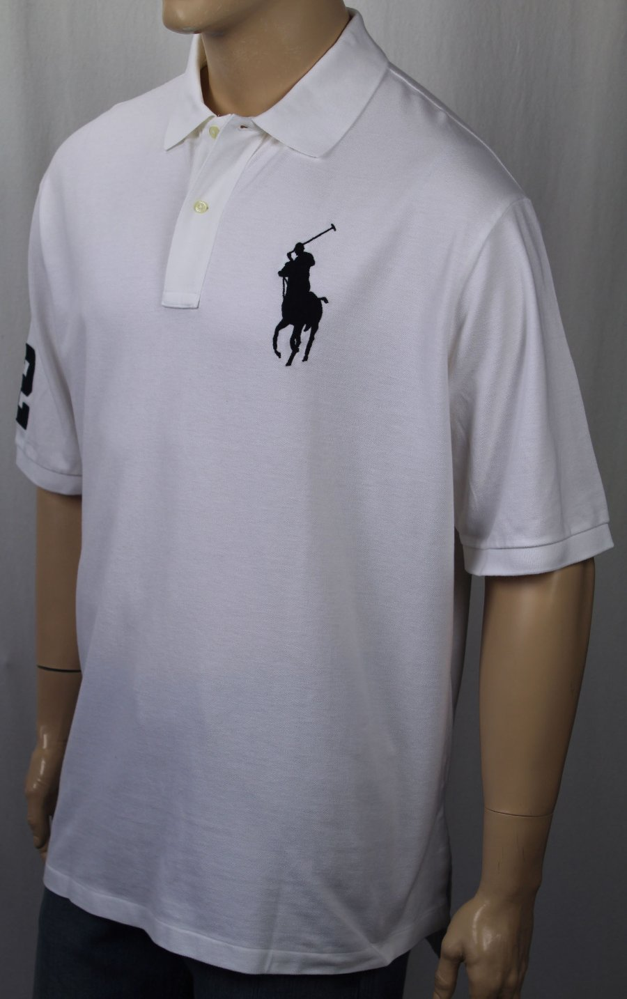 Ralph Lauren Large-Tall LT Blue Classic Fit Big Yellow Pony Polo NWT