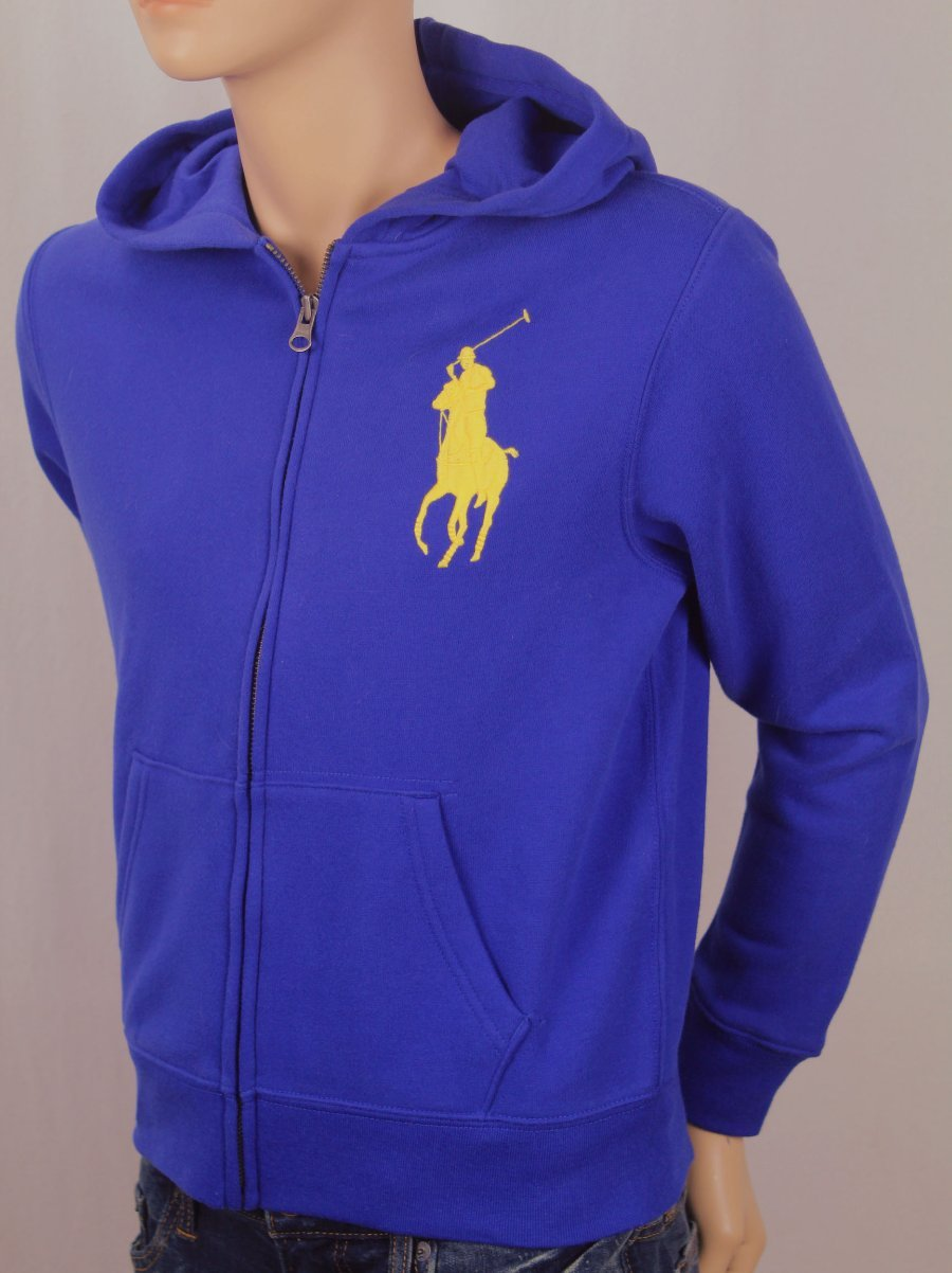 Details about Polo ralph lauren kids royal blue yellow big pony hoodie nwt show original title