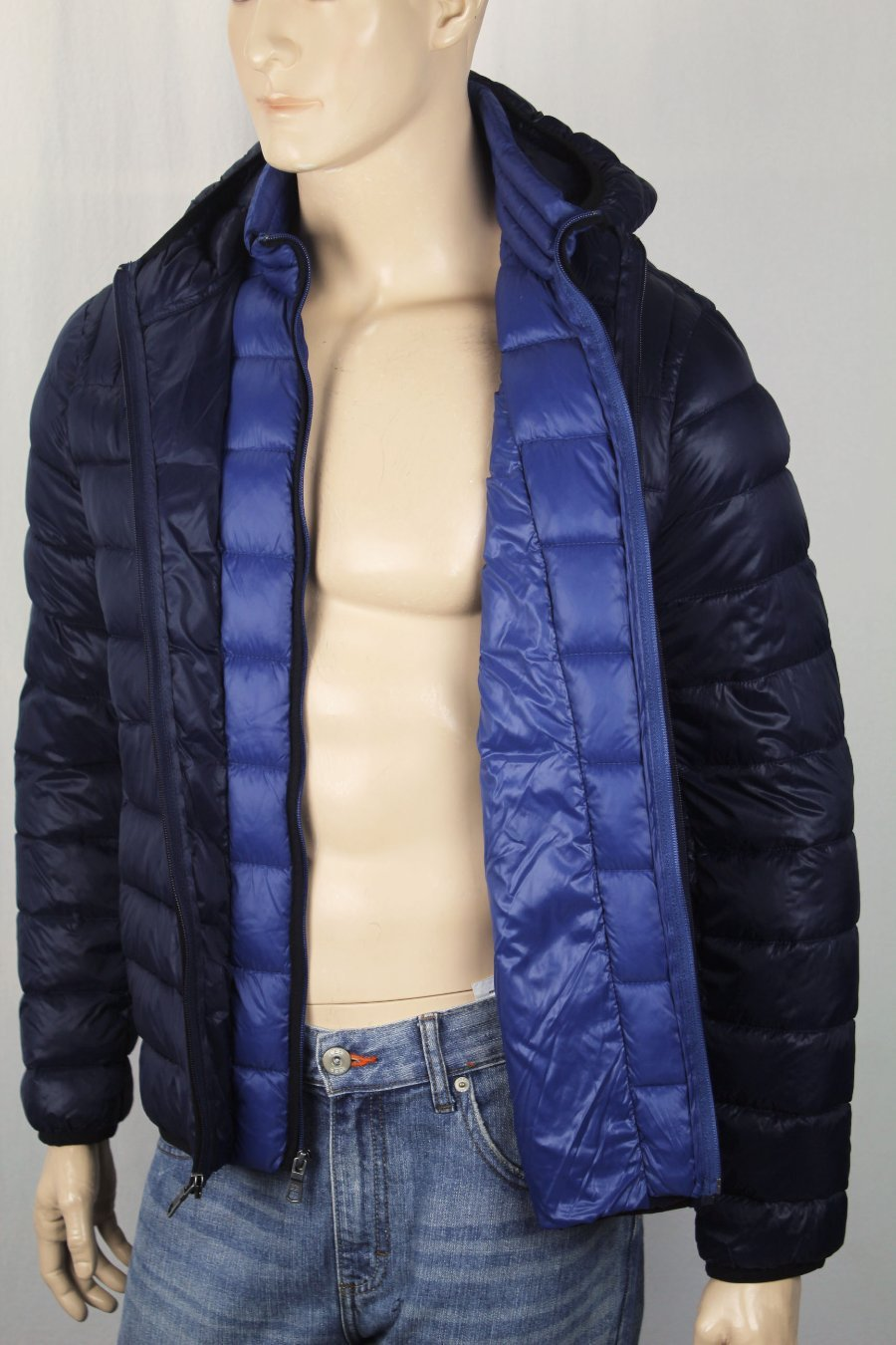 Details about Tommy Hilfiger Navy Blue Packable Hooded Ultra Loft Ski Puffer Coat NWT $195