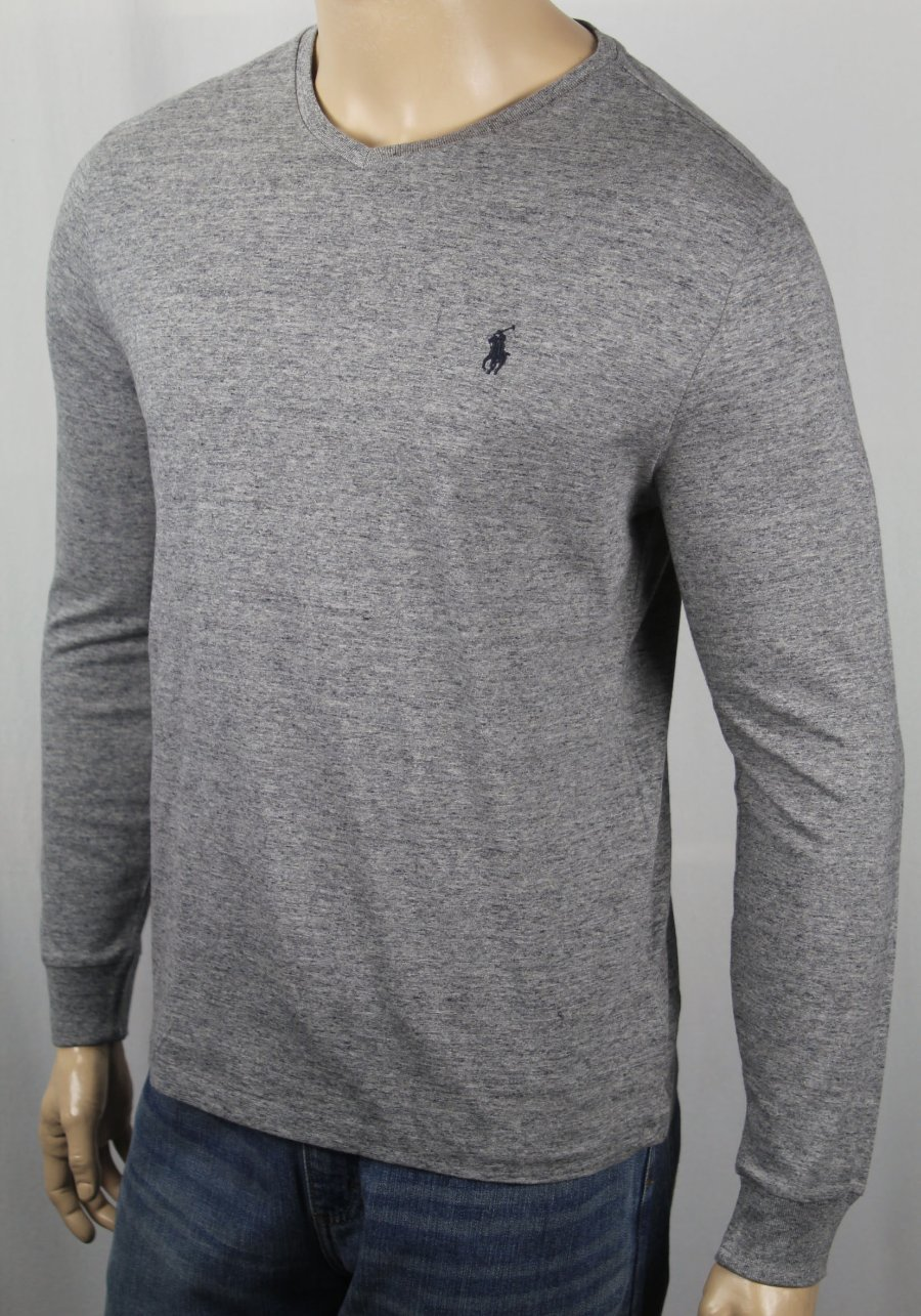 ralph lauren grey long sleeve shirt