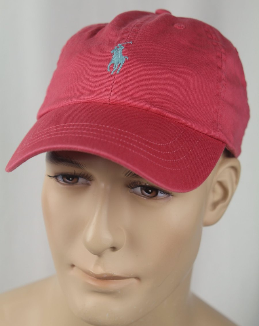 Details about Polo Ralph Lauren Red Baseball Ball Cap Hat Blue Pony NWT cffb686a66e