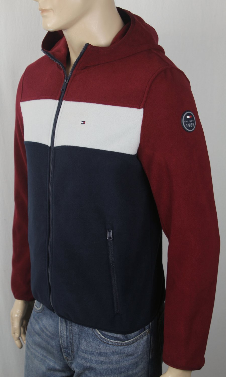 NWT Blue Tommy Hilfiger Outerwear Full Zip Up Jacket Adult Men/'s Size Large