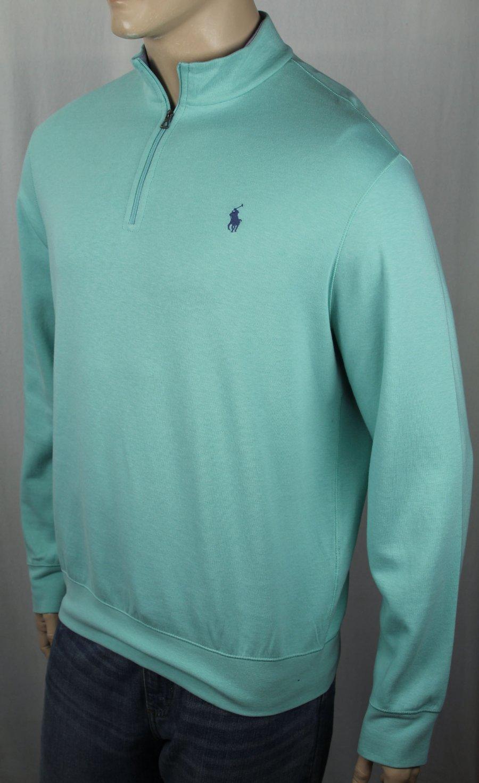 Polo Ralph Lauren Blue 1//2 Half Zip Sweater Yellow Pony NWT