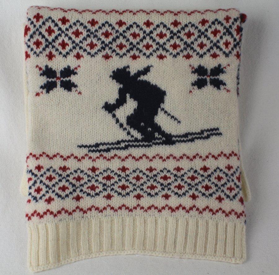Cream Scarf NWT Blue Nordic NWT Nordic Skier Lauren Wool