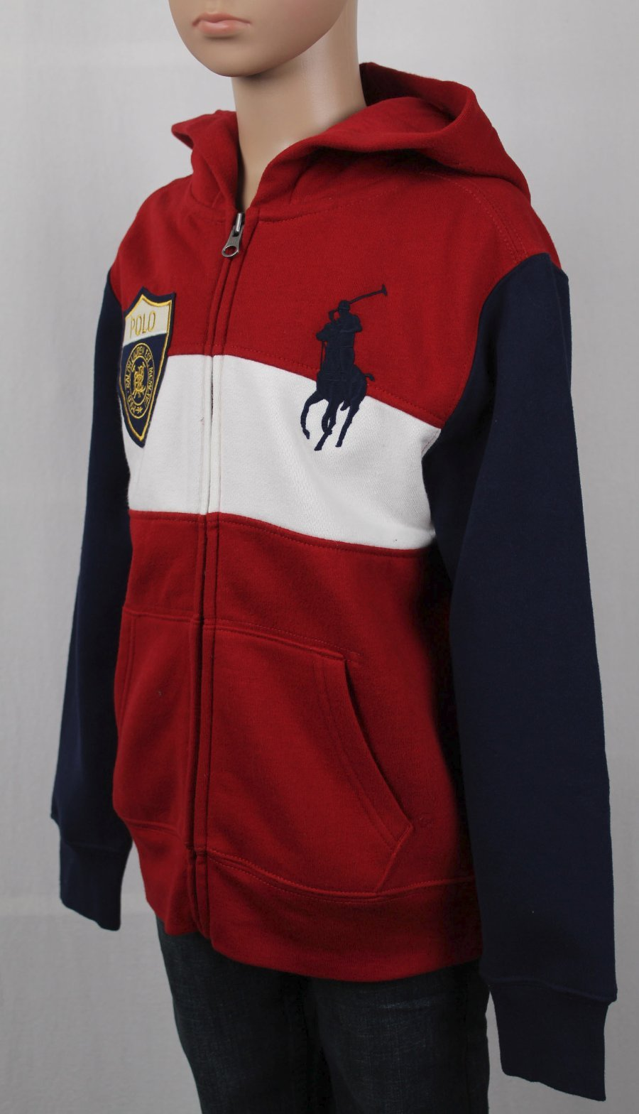 NWT POLO RALPH LAUREN BOYS BIG PONY ZIP UP HOODIE HOODY JACKET CHROME YELLOW