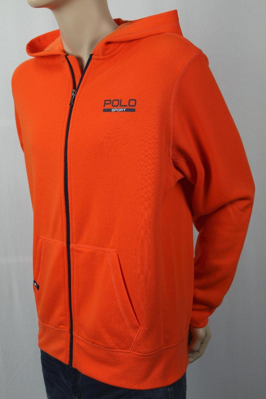 Détails sur Enfants Polo Sport Ralph Lauren Orange Polaire Fermeture Éclair Sweat Shirt à