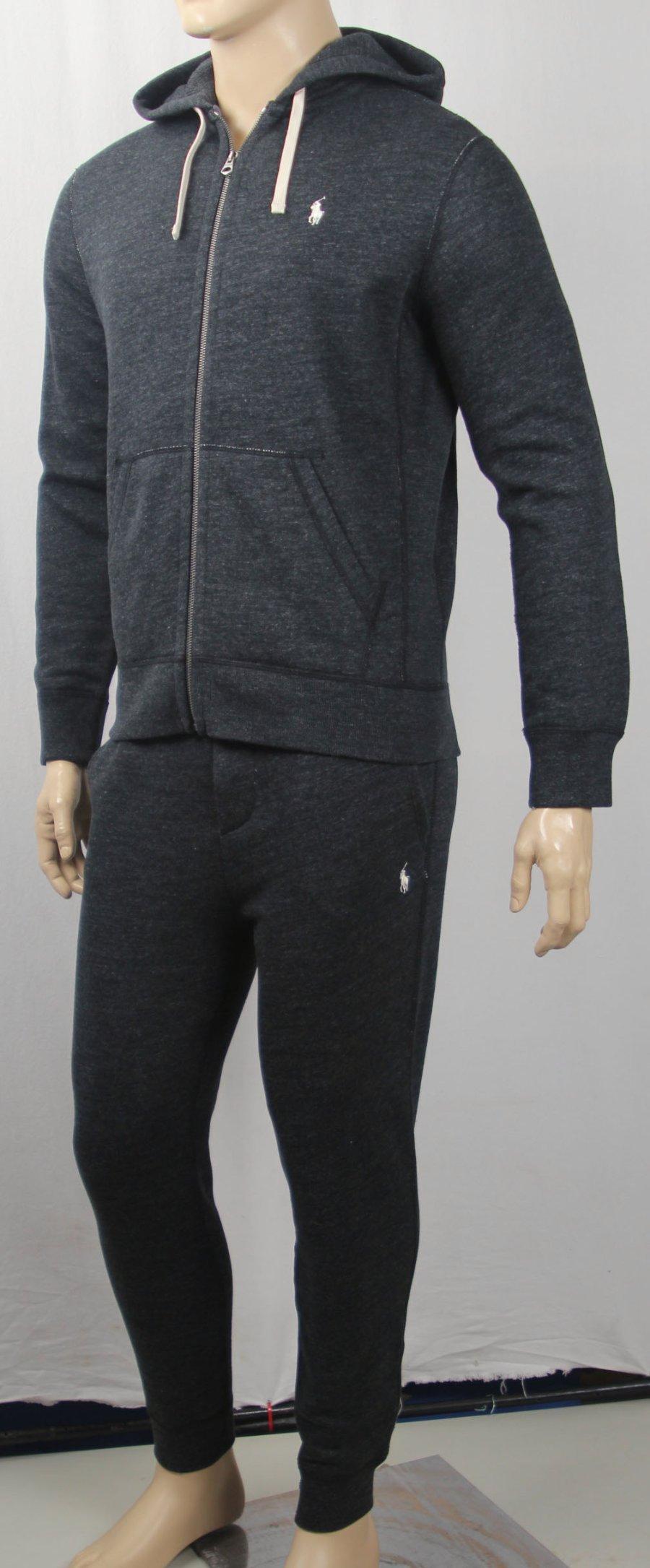 4d11b96f Polo Ralph Lauren Black Hoodie / Sweatpants Sweatsuit Full Zip ...