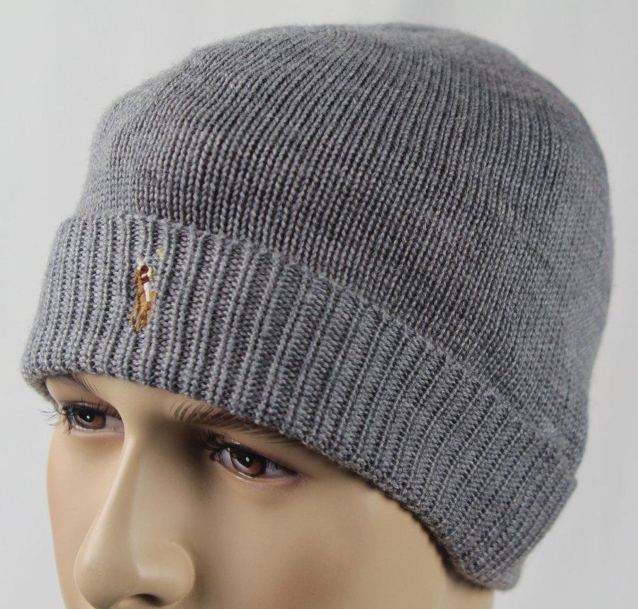 Laine Bonnet Détails Étiquettes Merino Manchette Avec Neuf Lauren Sur Ralph Crâne Polo Gris j34RqA5L