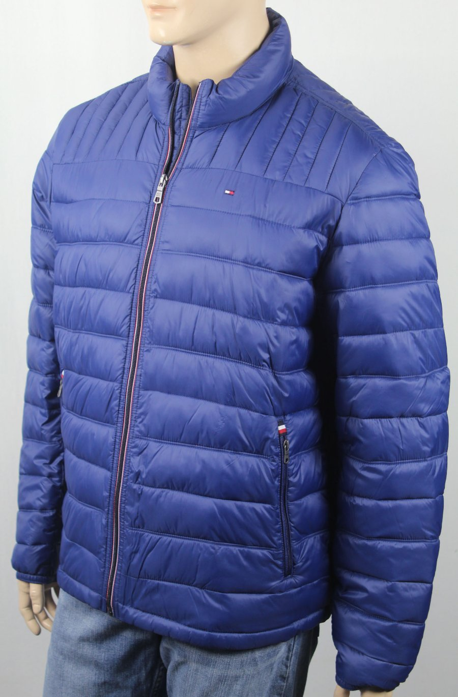 Tommy Hilfiger Navy Blue Ultra Loft Hooded Puffer Packable Coat NWT $195