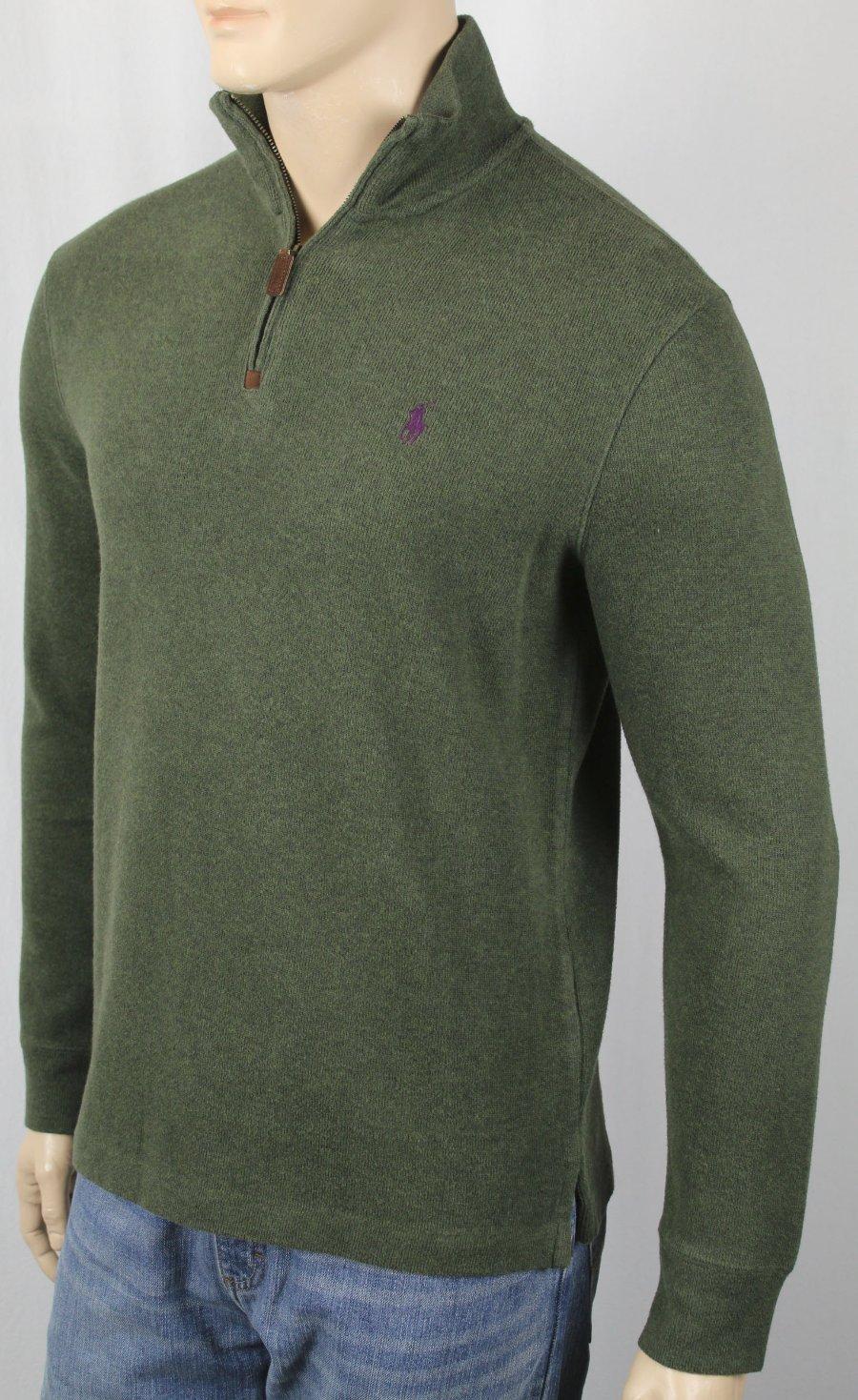 olive green ralph lauren polo shirt ralph lauren half zip